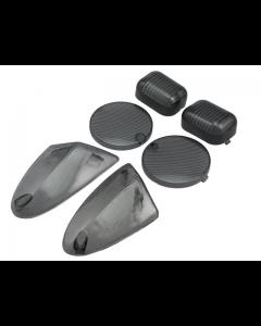 Knipperlicht + Achterlicht glasset STR8 - Aprillia SR2000 - Smoke (STR-620.11/BK)
