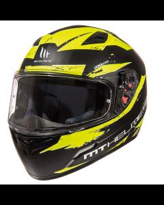 Helm MT Mugello Zwart / Geel Maat L (MT-1103232076)