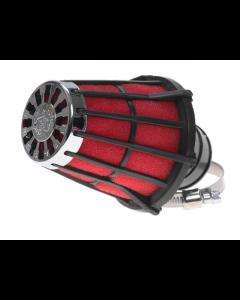 Luchtfilter Malossi E5 52mm schuin zwart open (MAL-04 3077.50)