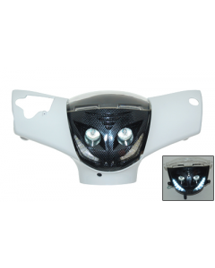 Koplamp Piaggio Zip 2000 Halogeen + Led carbon (DMP-41541)